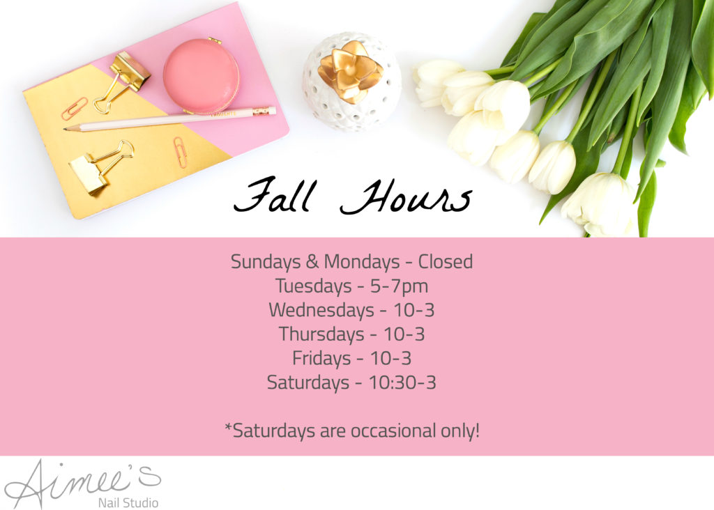 Fall Hours in the Studio